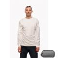 Белая футболка с длинным рукавом с подкладкой из спец. волокна