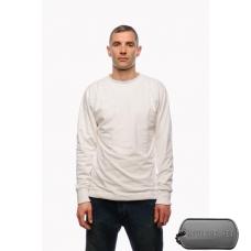 Белая футболка с длинным рукавом с подкладкои из спец. волокна