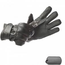 Кожаные перчатки с защитой костяшек