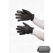 Кожаные перчатки со вставками спец. волокна
